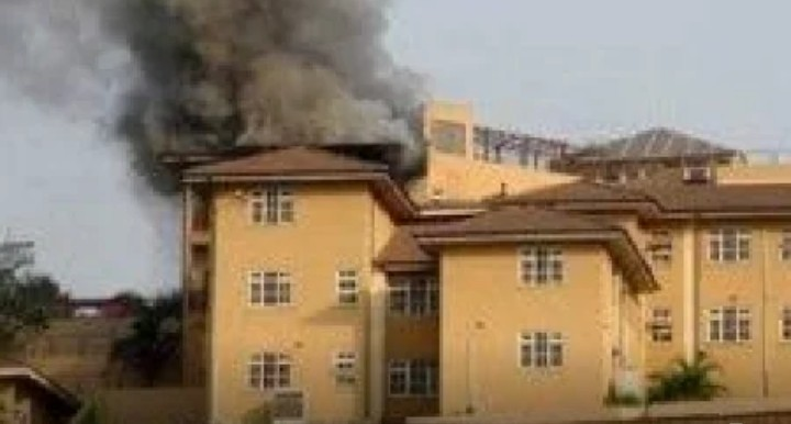 Breaking: Fire razes Obasanjo's house in Abeokuta