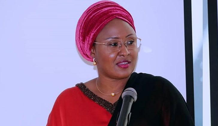 Coronavirus: Aisha Buhari prays for quick recovery Atiku's son