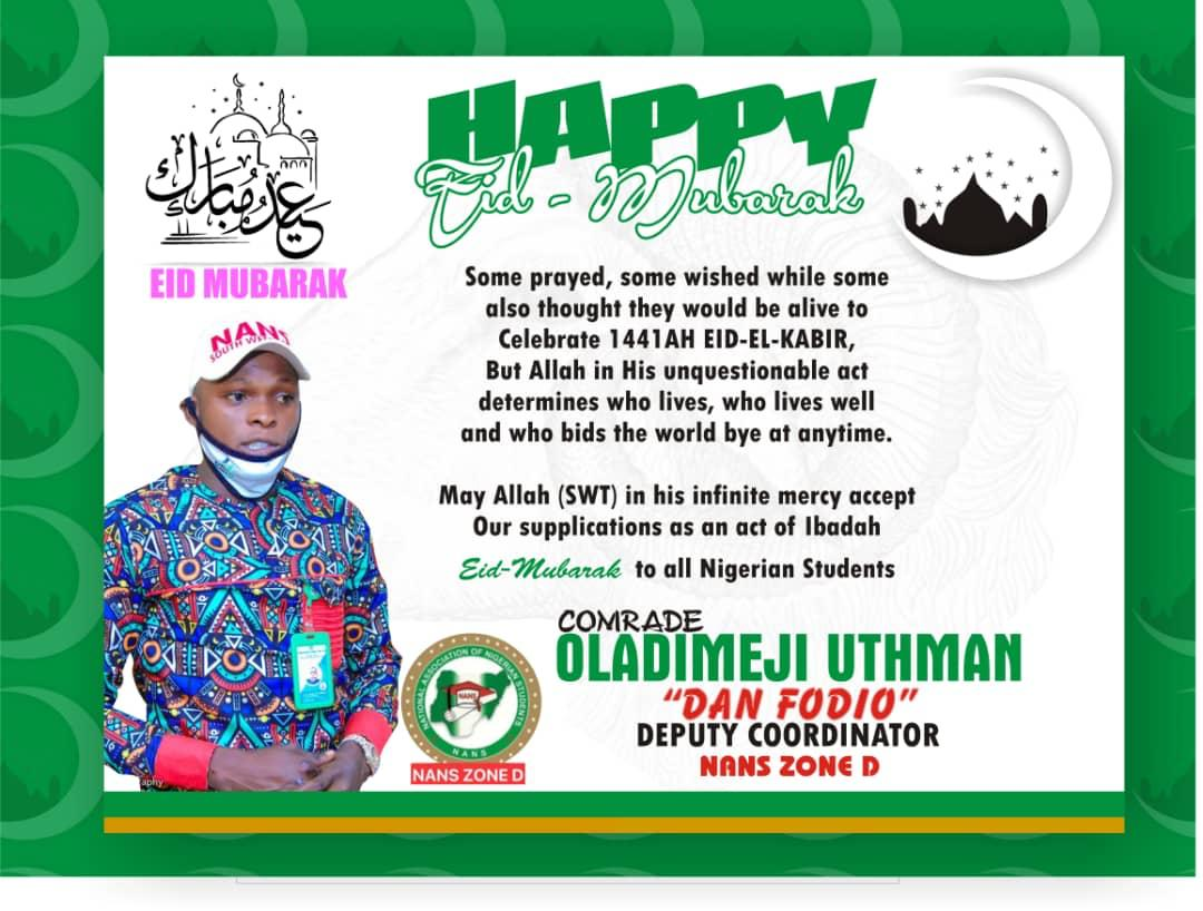NANS Congratulates Muslim Students On Sallah